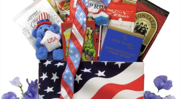 Christmas In July Gift Basket Ideas.Basket Gifts Great Arrivals American Pride Patriotic 4th