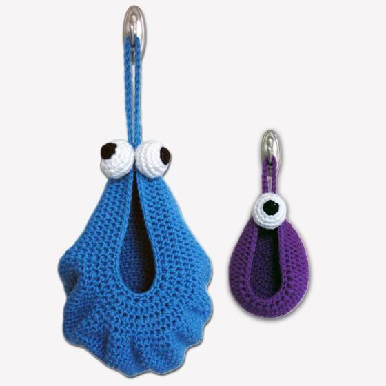 Hanging Alien Monster Baskets - PDF Crochet Pattern
