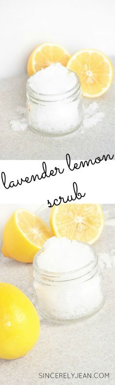 Lavender and Lemon Salt Scrub
