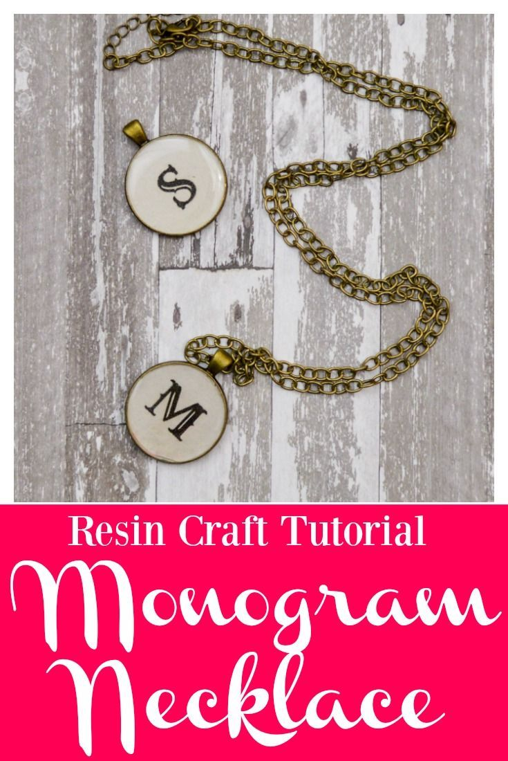 Resin Craft Tutorial: DIY Monogram Necklace