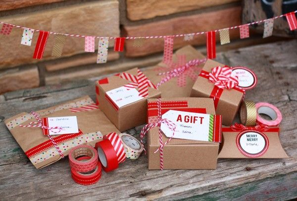 Washi Tape Gift Wrapping Inspiration