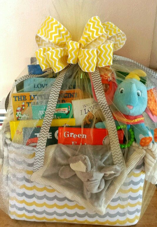 Basket Gifts Baby S First Library Giftsmaps Leading