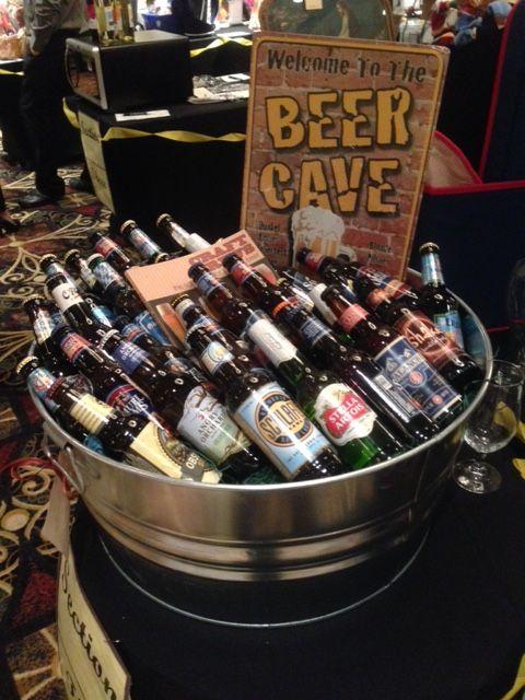 Beer Cave - Assorted craft beer silent auction basket. #curranmiller