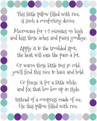 DIY Rice Bag Warmers
