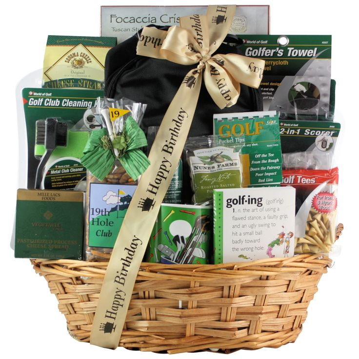Excite your beloved golfer on his birthday or another occasion with this delightful deluxe birthday gift basket, which was put together to please the avid golfer. It is filled with items such as a gol