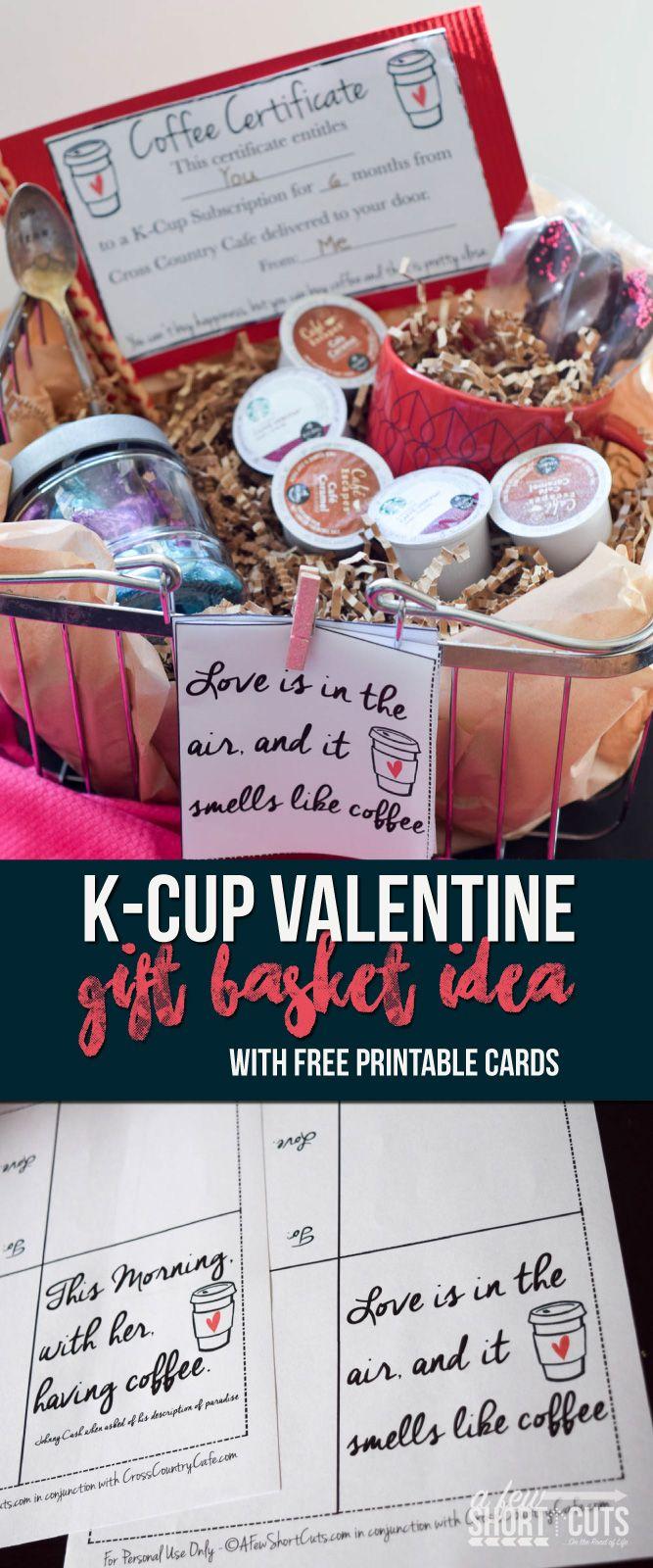 K-Cup Valentine Gift Basket Idea & a K-Cup Giveaway