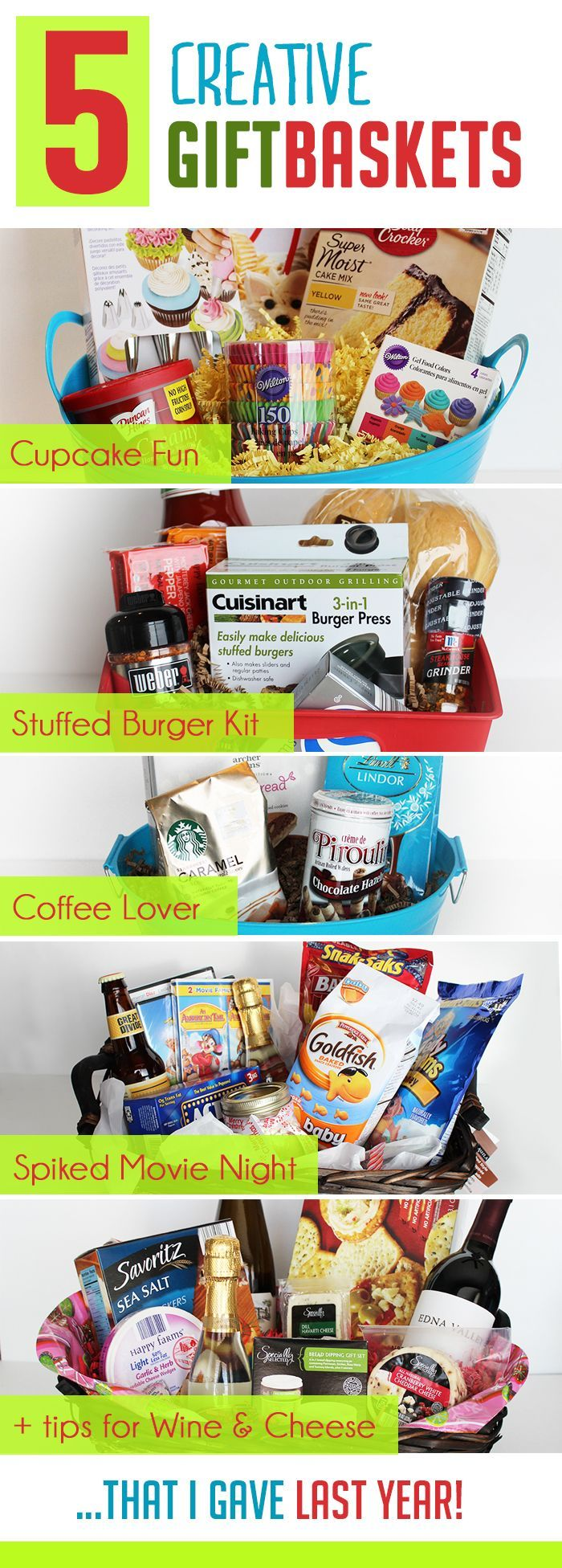 5 Creative DIY Christmas Gift Basket Ideas for friends, family & office!