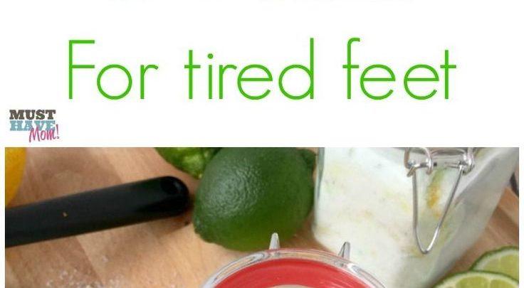 Basket Gifts : DIY Citrus Mint Epsom Salt Foot Soak For Tired Feet +