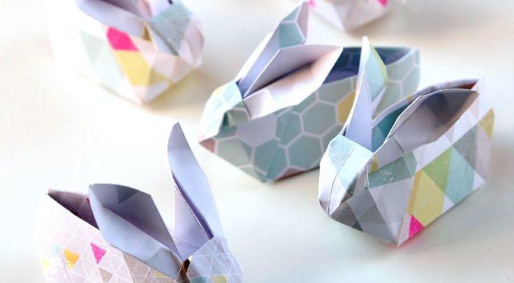 Easy DIY Origami Easter Bunnies | Shelley Makes | 405x736