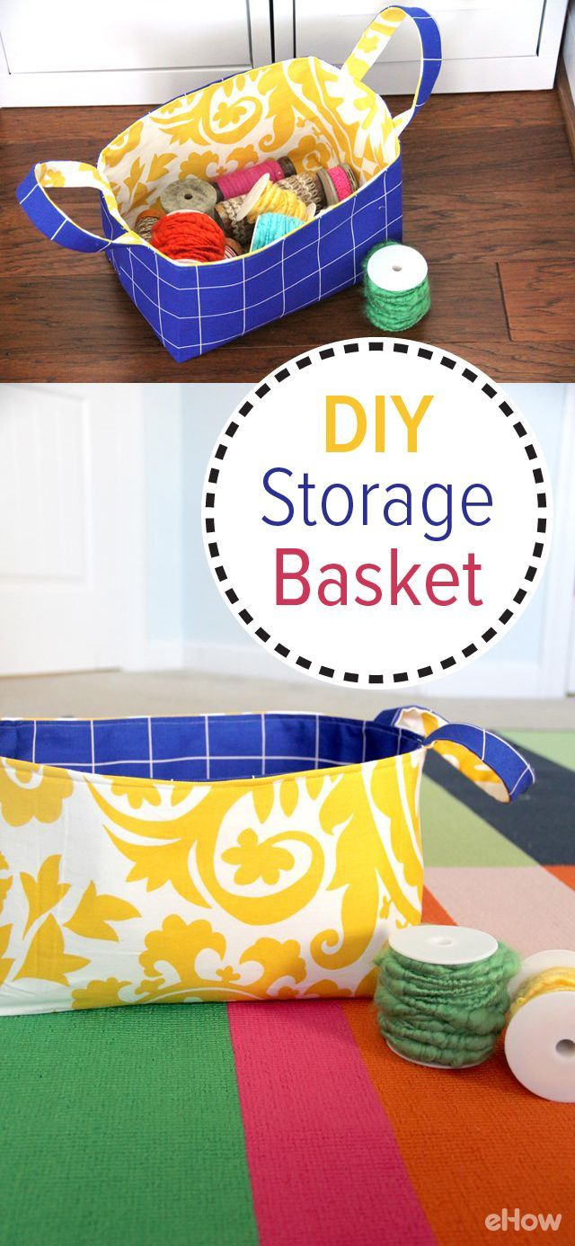How to Make a Reversible Fabric Storage Basket
