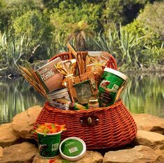It's a keeper! A gift basket designed especially for the Fisher man in your life! Complete with a picture frame and ruler for documenting the size of