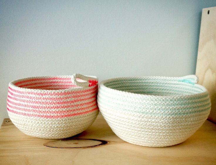 Sewing Rope Baskets
