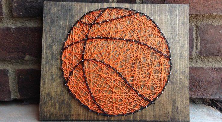 String Art Basketball Sports Decor Boys