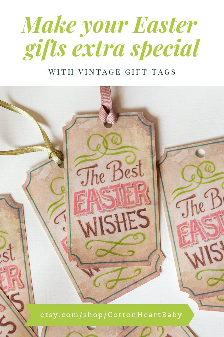 Digital Easter tags, happy easter gift tags. Printable Easter tags, vintage Easter printables. Instant download, scrapbooking, junk journal