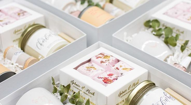 Gift Wrapping Ideas Spa Themed Curated Client Gift Boxes For