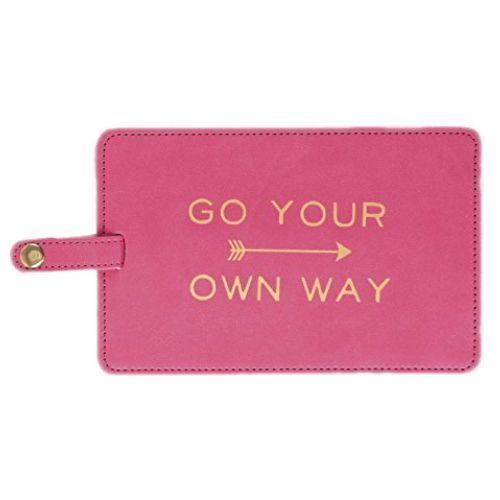 Go Your Own Way Luggage Tag. Inexpensive and meaningful graduation gifts for gir...