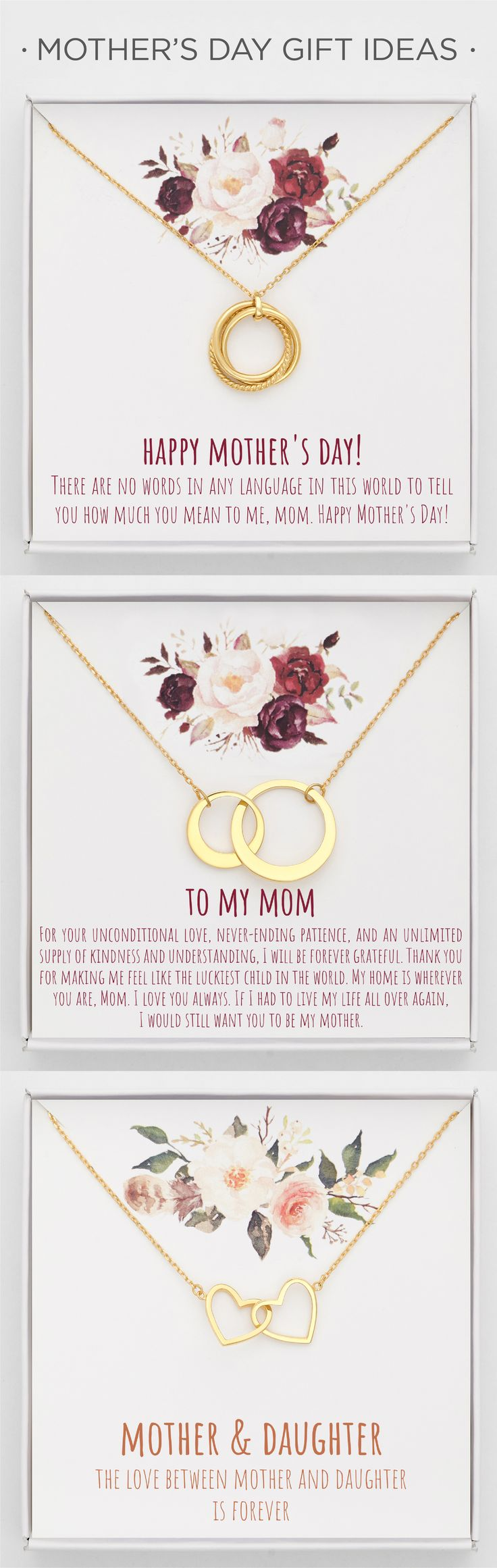 Mother's Day Cards • Mother's Day Gift Ideas • Sterling Silver Neckl...