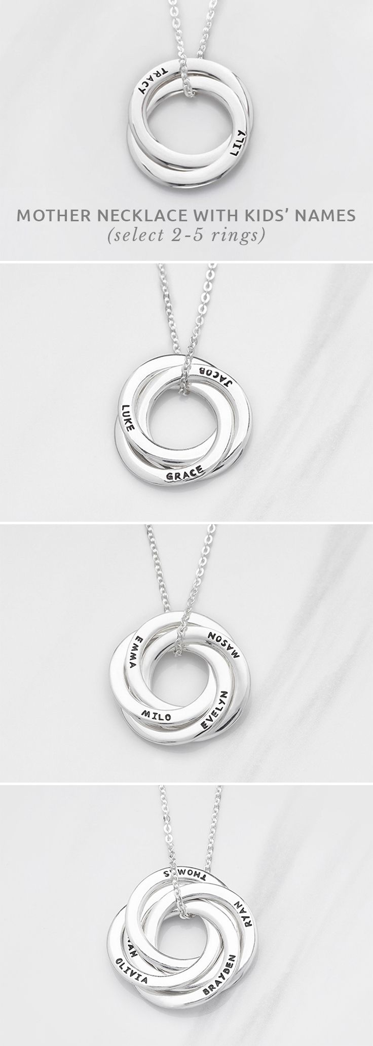 Mother Necklace with Kids' Names • Mom and baby necklace • personalized ...