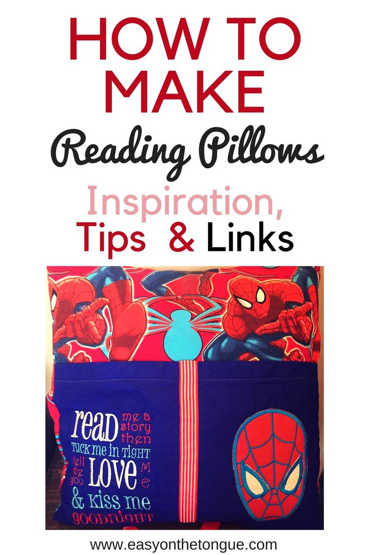 How to make Reading-Pillows? Inspiration, Tips & Links