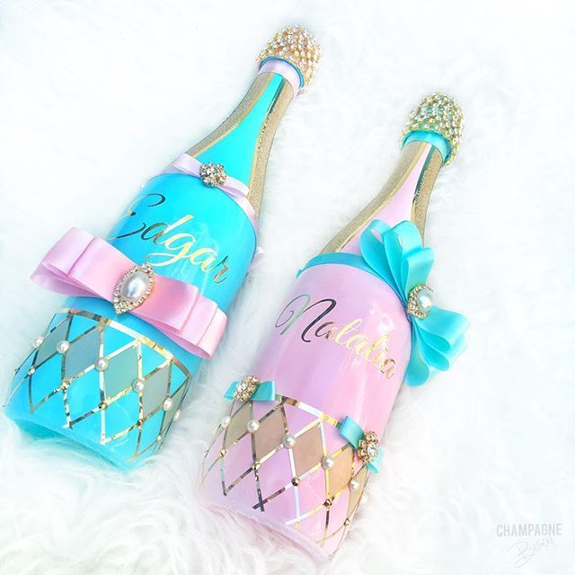 It's Parisian Carnival Birthday Party • Personalized champagne #Glam Bottles w...