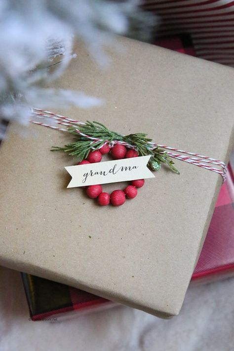 Mini Wooden Bead Wreath