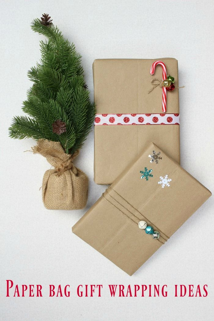 Paper bag gift wrapping ideas