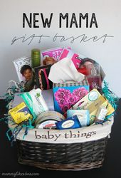 New Mama Gift Basket.