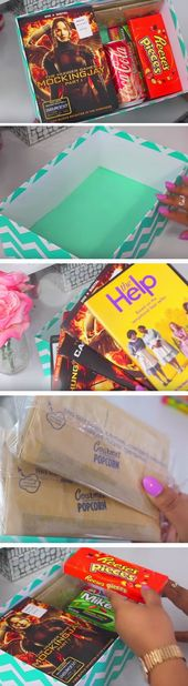 Theatre to Go | Click Pic for 21 DIY Christmas Baskets for Teens | Easy Gift Ide...