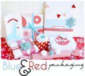 Red & Aqua Gift Wrap Ideas