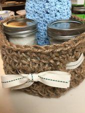 Crocheted Jute Twine Basket - Free Pattern - Savvy Nana