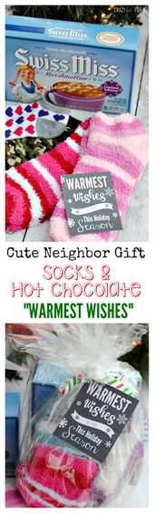 Warmest Wishes Neighbor Gift Idea - Crazy Little Projects