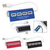 4-Port Aluminum Wave USB Hub