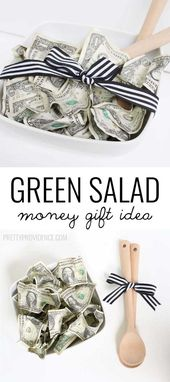 'Green Salad' Money Gift Idea