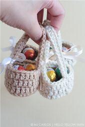 Mini Crochet Easter Eggs Basket