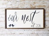 'Our Nest' Personalized Framed Sign