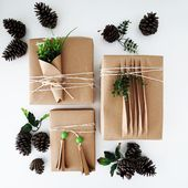 3 easy ways to wrap presents with brown paper - Ohoh deco