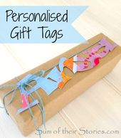 Personalised Gift Tags — Sum of their Stories Craft Blog