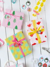 Potato Stamped Wrapping Paper: Three Ways (Handmade Charlotte)