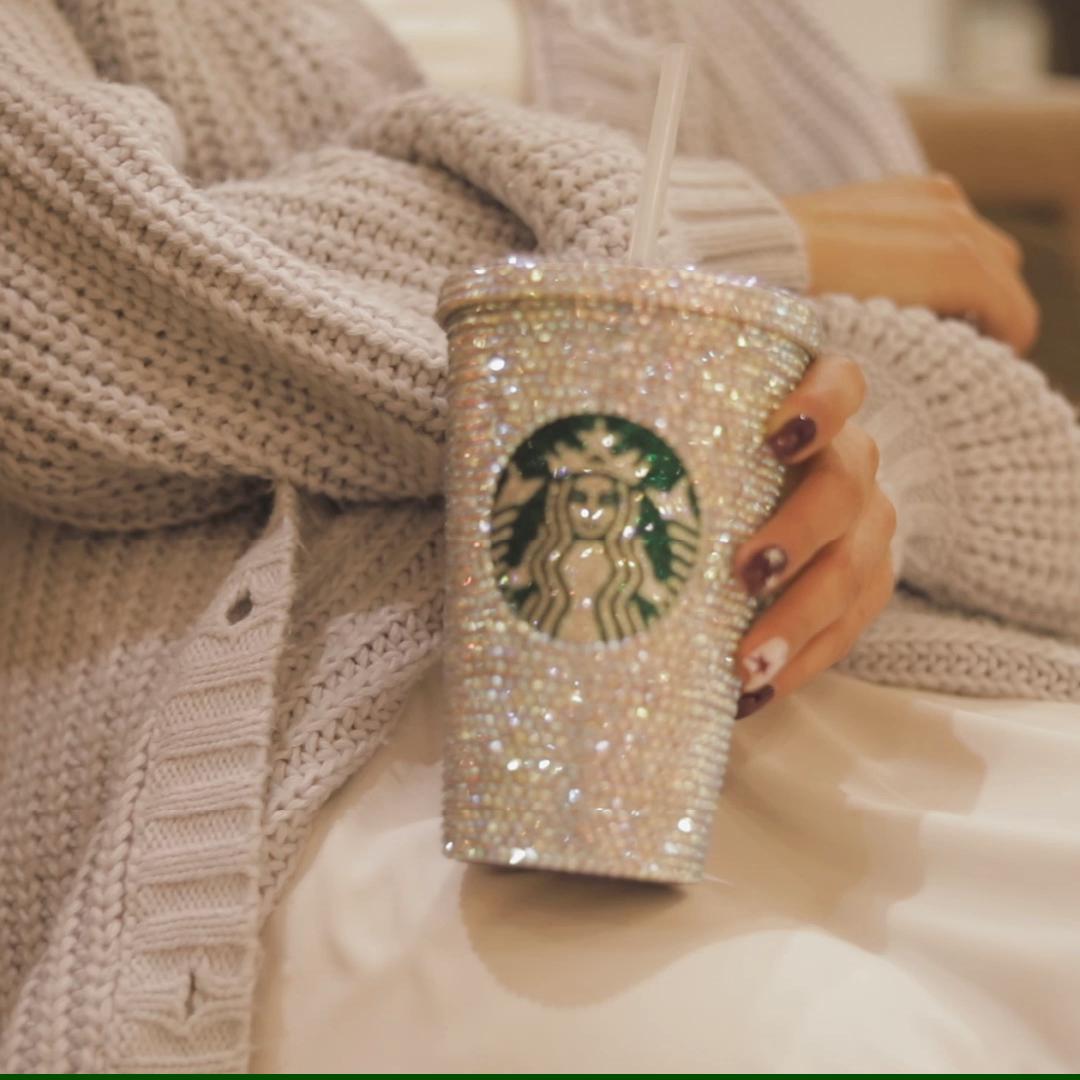Personalized Starbucks Tumbler, Swarovski Crystal & Rhinestone   Classic Tumbler, Valentines Gifts