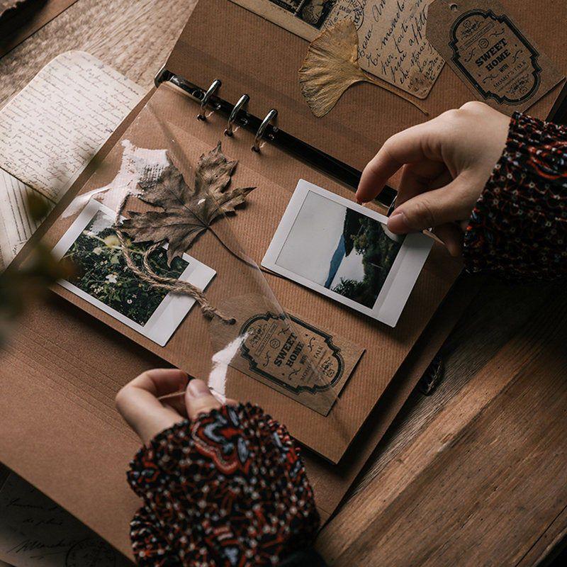 Retro PU Cover Photo Album. Scrapbook Album. Wedding Album. Memory Book. Retro Planner. Travel Scrap
