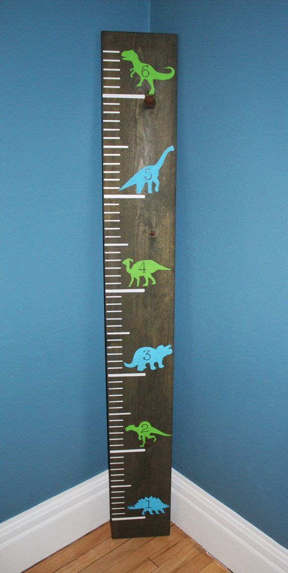 Wooden Dinosaur Growth Chart for Measuring Children|Height Board|Ruler|Kid's Room|Baby shower gift|G