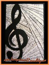 carte Iris Folding musique - Le Scrap de Coco82