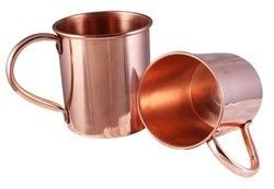 16 oz Custom Branded Solid Copper Moscow Mule Mug
