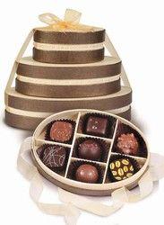 Handmade Belgian Chocolate Truffle Tower in CreamGift Boxes