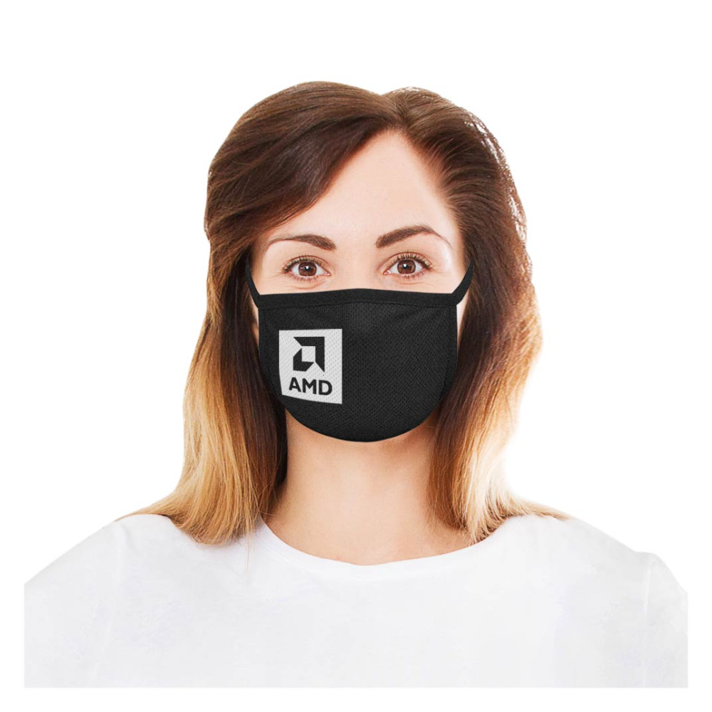 2-Ply Deluxe Cooling Fabric Face Mask